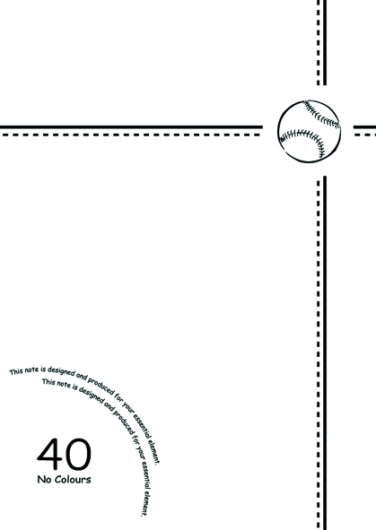 【美加美】文具紙品-25K數字平裝筆記(28張)-棒球白2 AW1612/10本入