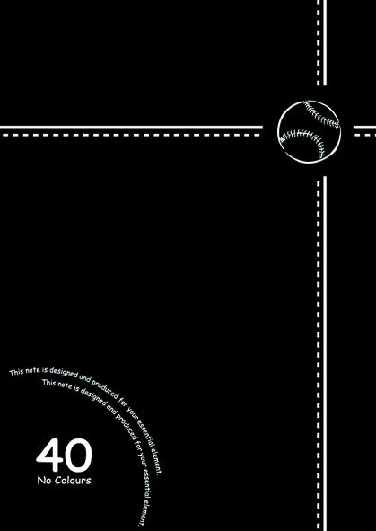 【美加美】文具紙品-25K數字平裝筆記(28張)-棒球黑2 AW1611/10本入