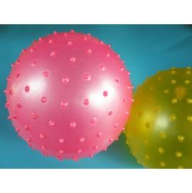 台灣製按摩球 安全球 復健球 玩具球 尖球 刺刺球 直徑25cm(大)MIT製/一個入{定80}~群 健身球 充氣球 訓練球
