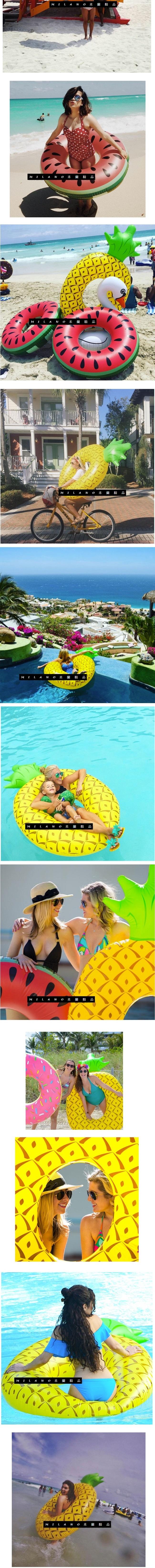 游泳圈 充氣-麵包造型加厚三人水上活動坐騎浮板