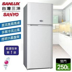 SANLUX 台灣三洋 250公升雙門冰箱 SR-A250B 直流風扇馬達 多層冷流出風口