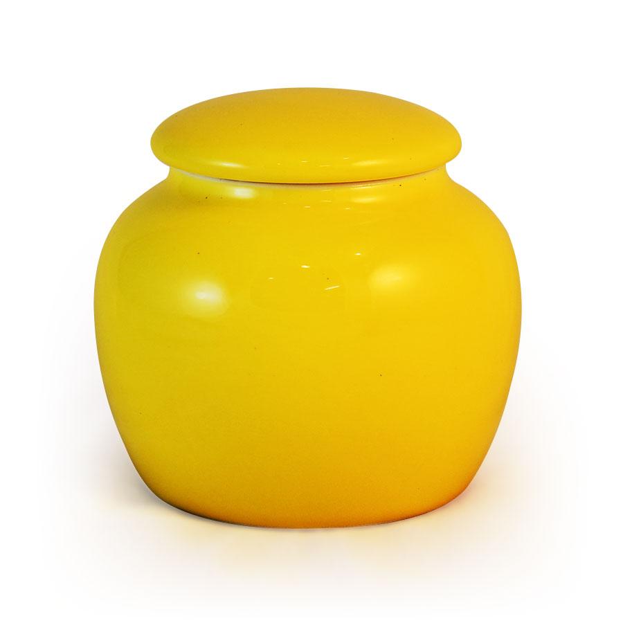 小鼓茶罐-亮黃