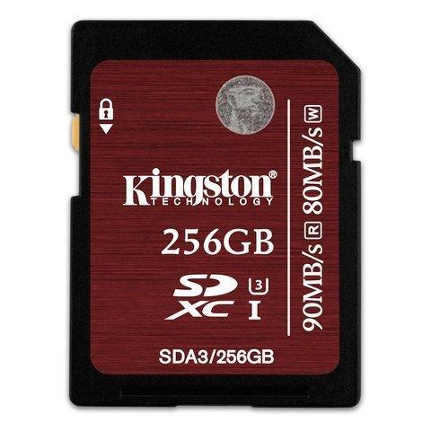 *╯新風尚潮流╭*金士頓 256G 256GB SDXC C10 UHS-I U3 記憶卡 SDA3/256GB