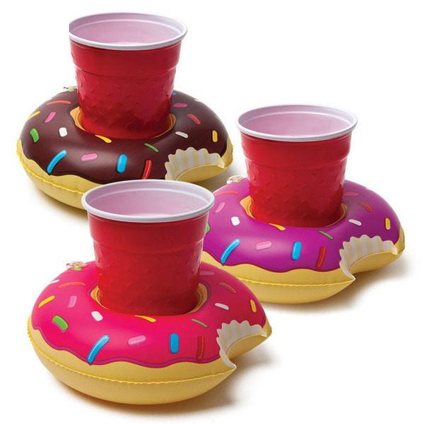 PS Mall 甜甜圈充氣杯座【J2002】