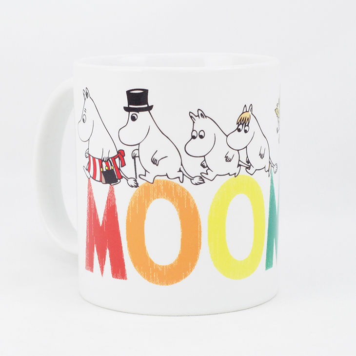 Moomin嚕嚕米授權 - 馬克杯 / 牛奶杯:【 Happly family 】