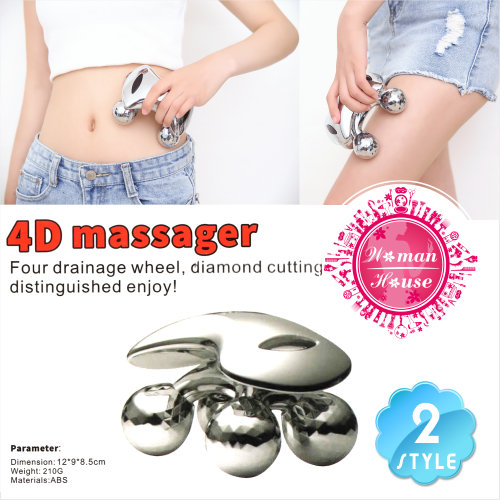 4D美容美體鉑金滾輪按摩儀-單入(兩款) [53652]