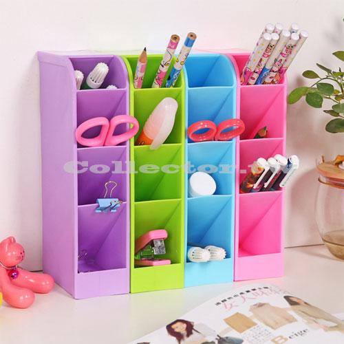 【L16091910】時尚糖果色多功能大容量四格收納盒 化粧品衣物文具雜物整理盒