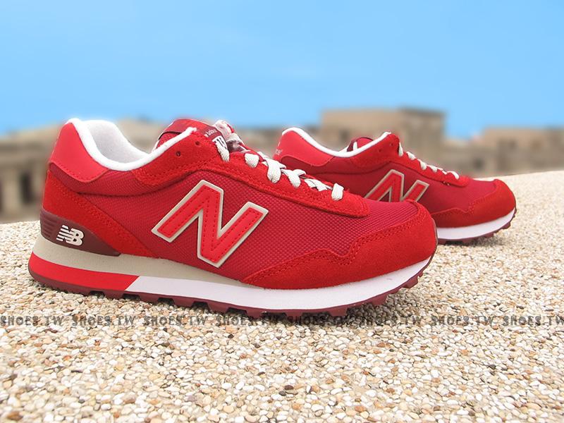 Shoestw【WL515SLB】NEW BALANCE NB515 復古慢跑鞋 紅色 女生尺寸
