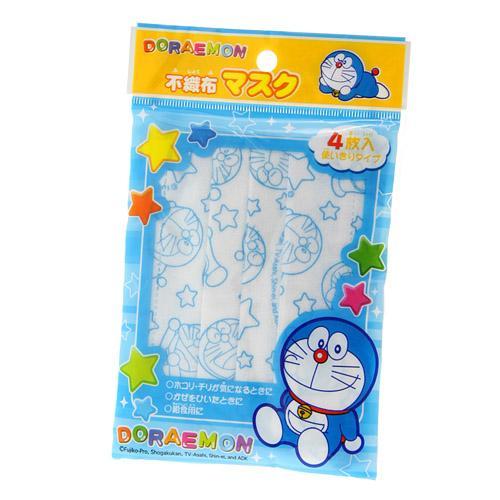 【菲比朵朵】日本 SANRIO 多拉A夢 小叮噹 不織布口罩 兒童用4件組 三麗鷗正品 1220