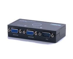 [良基電腦] HANWELL 捍衛科技 VS-211S 1對2 VGA 高頻視訊同步分配器 [天天3C]