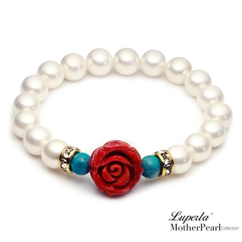大東山珠寶 浪漫土耳其 南洋貝寶珠玫瑰珊瑚金燦手鍊