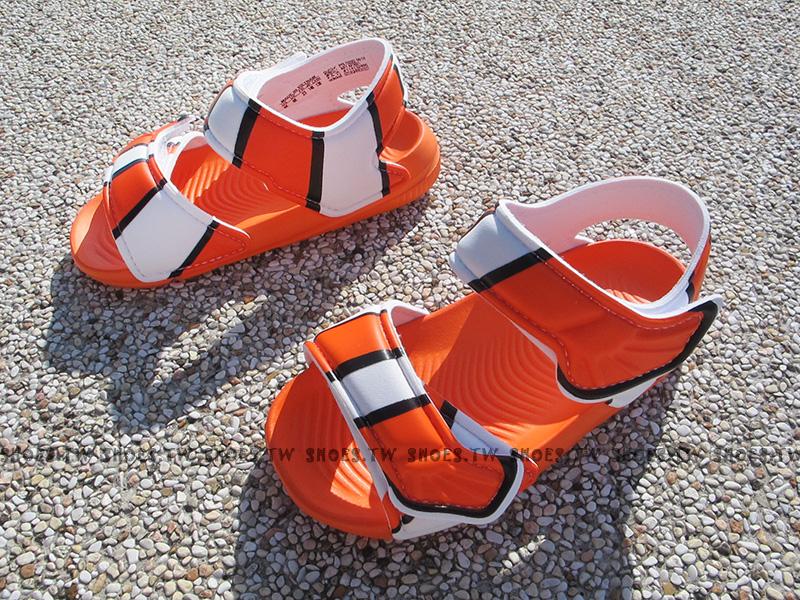 Shoestw【AF3921】ADIDAS 童鞋 涼鞋 小童 AKWAH9 尼莫Nemo 海底總動員 橘色