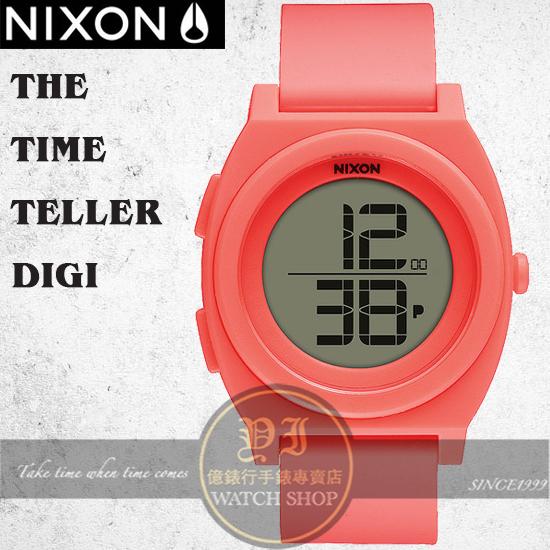 NIXON 實體店TIME TELLER DIGI潮流玩家腕錶BRIGHT CORAL公司貨A417-2054/極限運動