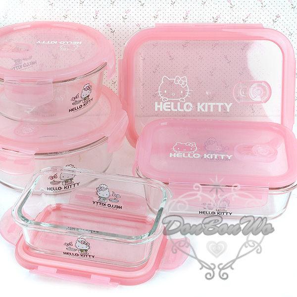 KITTY保鮮盒玻璃盒SGS檢驗合格圓形耐熱最大221870海渡