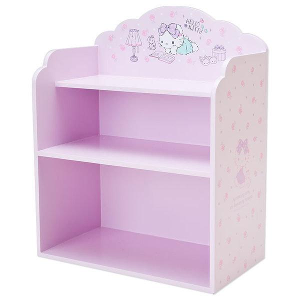 KITTY木製收納盒三層置物架玫瑰小熊123454海渡