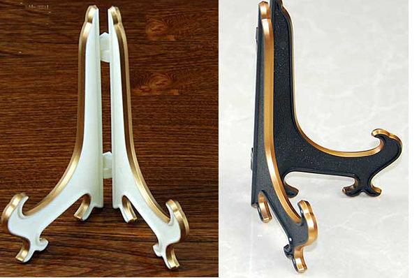 歐式古典風盤子支架立架三角架相框展示架書架062979海渡