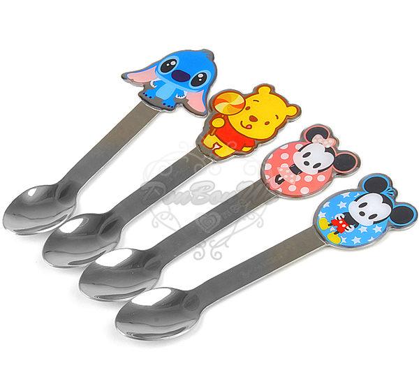 迪士尼米奇米妮史迪奇維尼熊不鏽鋼湯匙餐具260979海渡