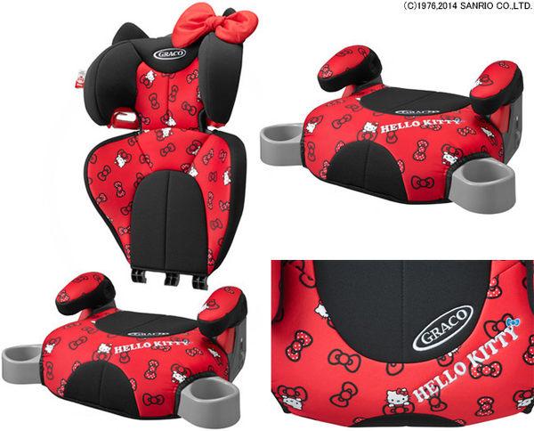 日本限量GRACO HELLO KITTY成長型安全座椅674001海渡