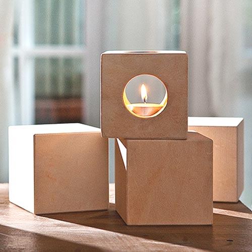【SUZU】珪藻土磚蠟燭組合 日本居家熱門 調節乾濕度 除臭 吸附有害氣體 天然環保