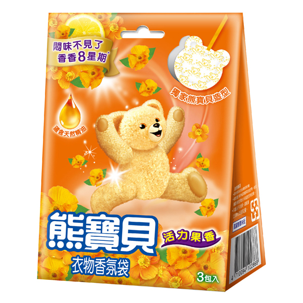 *優惠促銷*新熊寶貝香氛袋活力果香3入《康是美》
