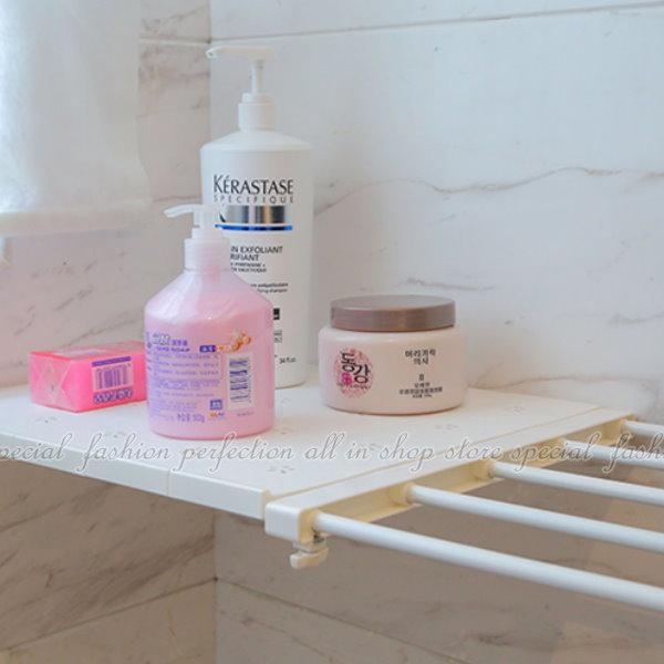 收納分層隔板38-55廚房衛浴免釘自由伸縮置物架【GL463】◎123便利屋◎