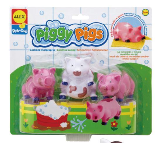 【美國ALEX】愛洗澡的小豬