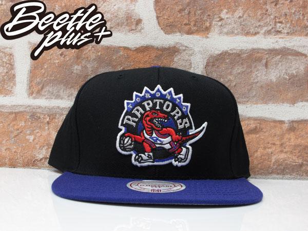 BEETLE MITCHELL&NESS NBA TORONTO RAPTORS LOGO SNAPBACK 多倫多 暴龍 黑紫 後扣棒球帽