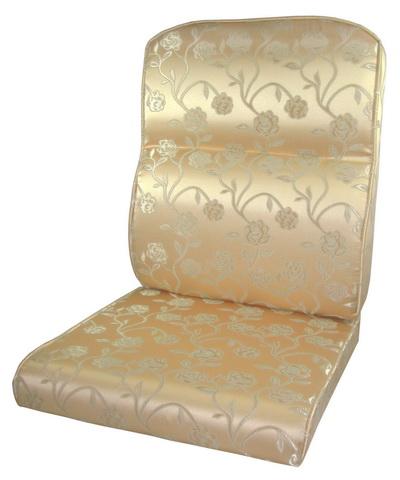 護背式緹花布止滑椅墊(金黃花朵)
