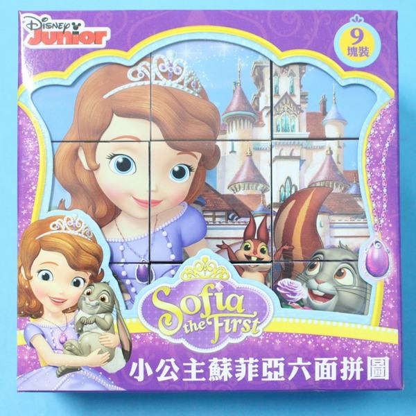小公主蘇菲亞立體六面拼圖 9塊裝 六面積木拼圖/一盒入{促160}~正版授權
