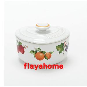 《富樂雅居》日本 富士 愛心造型 陶瓷 水果花 烤缽 烤盅 ( 0.2L )