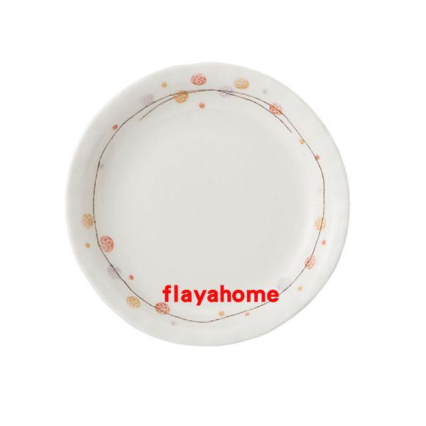 《富樂雅居》日本製 美濃燒 花??? ???四?皿 圓盤(13.5cm)