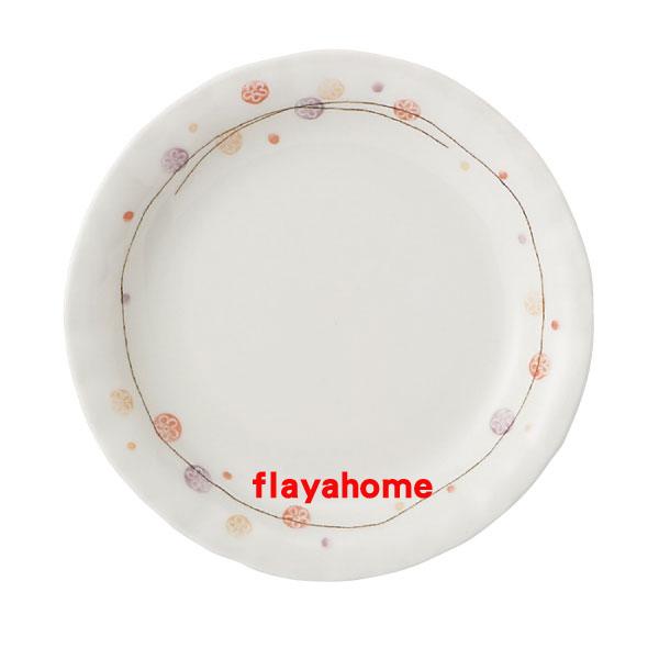 《富樂雅居》日本製 美濃燒 花??? ???五?皿 圓盤(16.5cm)