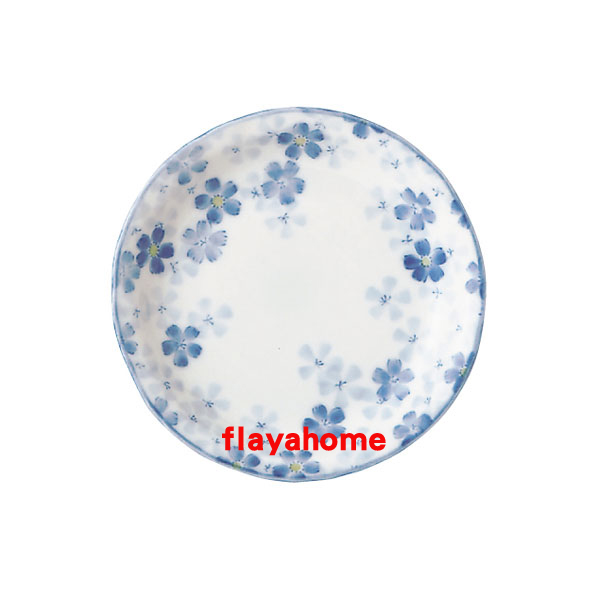 《富樂雅居》日本製 美濃燒 ???? ???四?皿 撫子花 圓盤(13.5cm)
