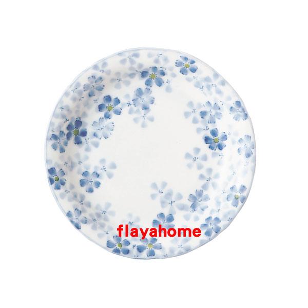 《富樂雅居》日本製 美濃燒 ???? ???五?皿 撫子花 圓盤(16.5cm)
