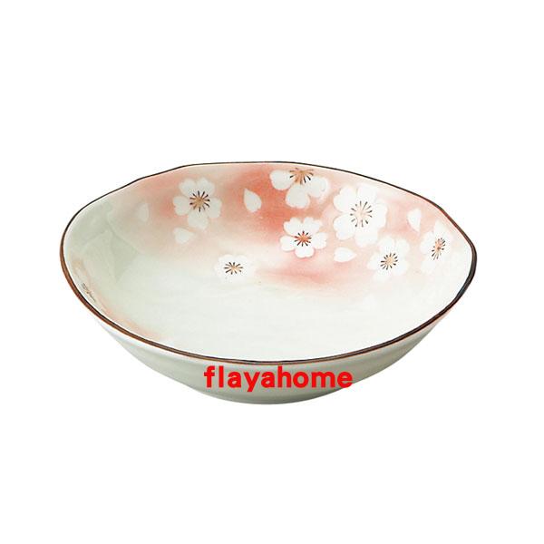 《富樂雅居》日本製 美濃燒 花??? ??五五煮物? 煮物缽 / 粉紅