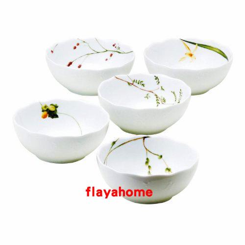 《富樂雅居》日本製 NARUMI 鳴海製陶 里花曆 五入 小缽組