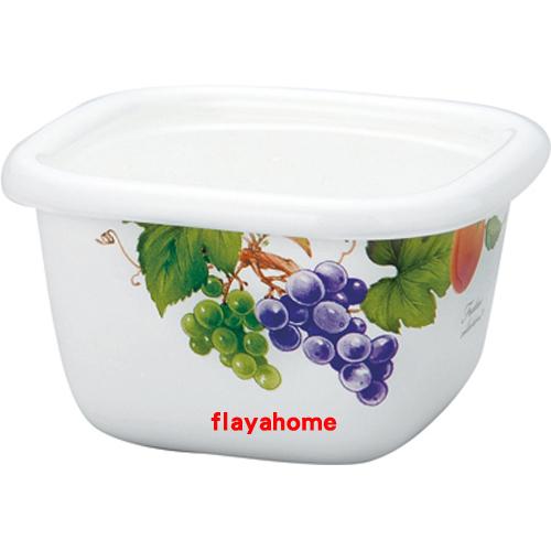 《富樂雅居》日本 富士琺瑯 雅緻水果 方型 保鮮盒 400ml