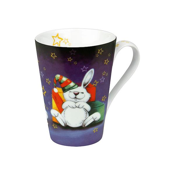 《富樂雅居》德國Konitz馬克杯-耶誕快樂 禮物兔