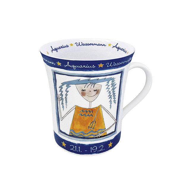 《富樂雅居》德國Konitz馬克杯 星座系列 水瓶座 拿鐵杯 馬克杯 ( 1/21~2/19 )