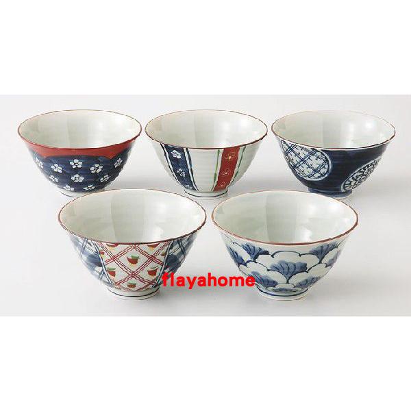 《富樂雅居》日本製 有田燒 復古茶杯 五入 飯碗組