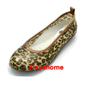 《富樂雅居》日本製 雨鞋 娃娃鞋 / 經典豹紋