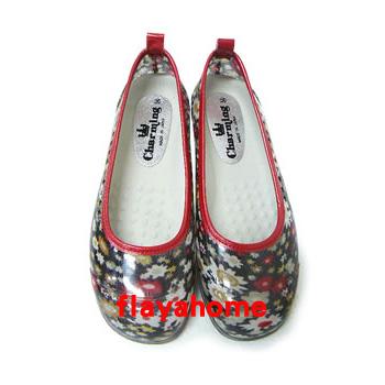 《富樂雅居》日本製 雨鞋 娃娃鞋 / 時尚小花