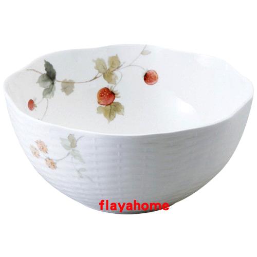 《富樂雅居》日本製 NARUMI 鳴海製陶 骨瓷 果實 大湯碗 ( 1入 )