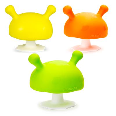 ★衛立兒生活館★Mombella Q比小蘑菇固齒器(綠/橘/黃)