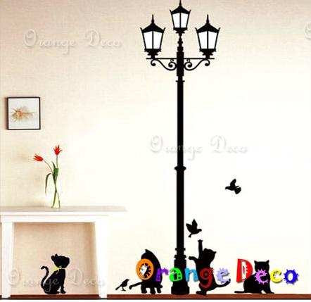【橘果設計】小貓嬉戲 DIY組合壁貼 牆貼 壁紙 無痕壁貼 室內設計 裝潢 裝飾佈置