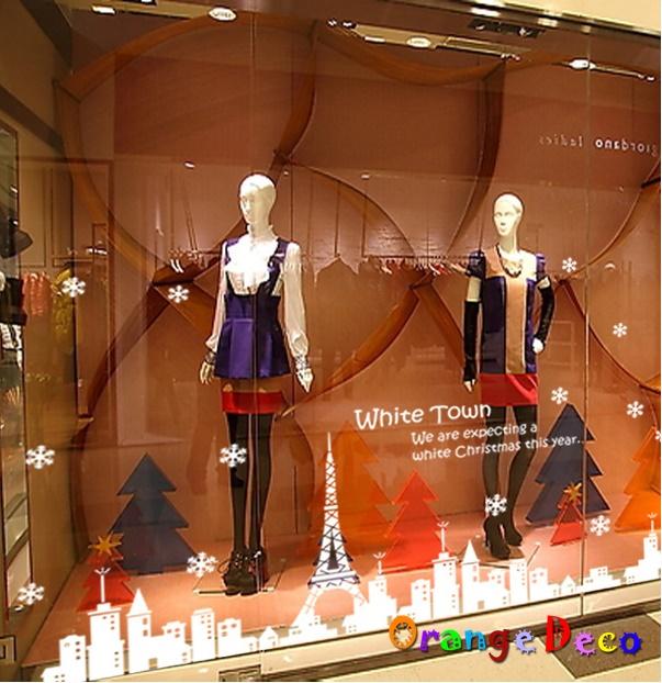 【橘果設計】白色巴黎鐵塔(靜電貼) DIY組合壁貼 牆貼 壁紙 無痕壁貼 室內設計 裝潢 裝飾佈置