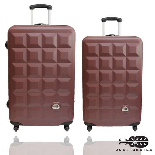 Just Beetle趣味巧克力系列ABS輕硬殼24吋+20吋旅行箱/行李箱
