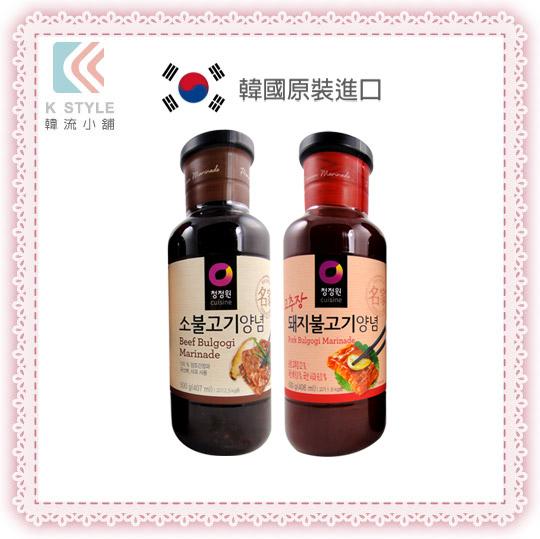 【 Daesang 】 大象 韓式 醃烤調味醬 原味/辣味 500g 買兩瓶贈烤肉刷1支 醃烤醬 烤肉醬