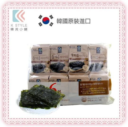 【 Daesang 】 大象 調味海苔(新包裝) 16包/袋 韓國零食 伴手禮 效期至2017/3/6
