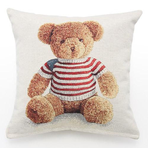 【百倉日本舖】日本進口 葡萄牙製 Vegatex 泰迪熊抱枕(含枕心)/靠枕/靠墊